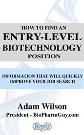 How to find an entry-level biotechnology position book cover